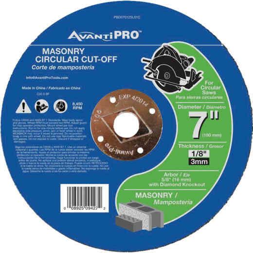 Avanti Pro Type 1 7 In. x 1/8 In. x 5/8 In. Masonry Cut-Off Wheel