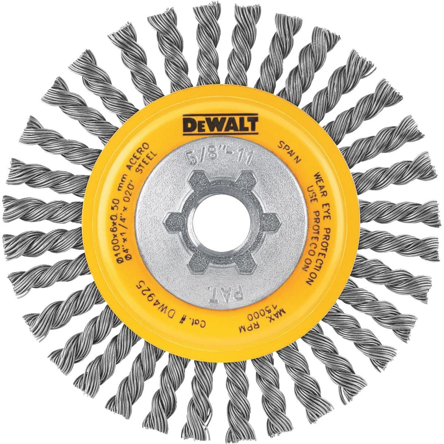 DeWalt High Performance 4 In. Carbon Stringer Bead Angle Grinder Wire Wheel Image 1