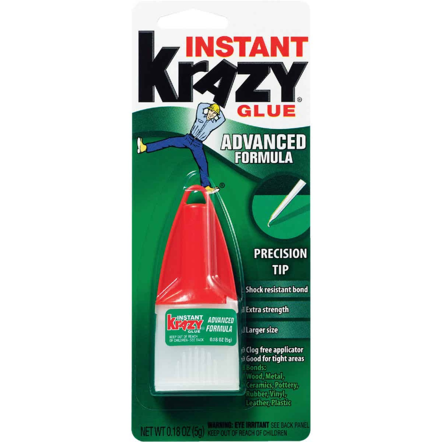 Krazy Glue 0.18 Oz. Liquid Maximum Bond Super Glue with Precision Tip Image 1