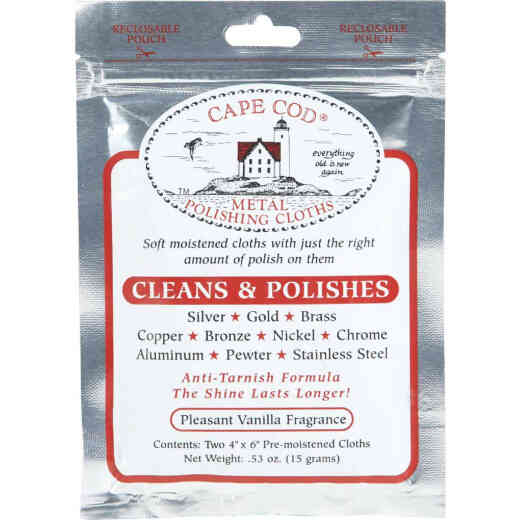 Cape Cod Pre-Moistened Metal Polishing Cloth (2 Count)