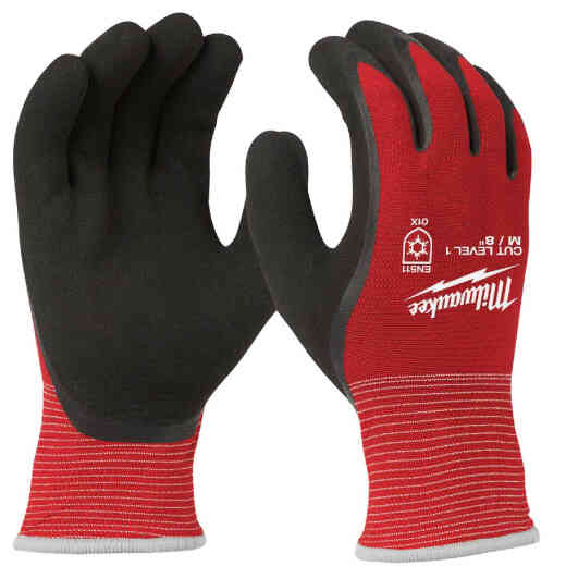 Milwaukee Unisex Medium Latex Coated Cut Level 1 Insulated Work Glove